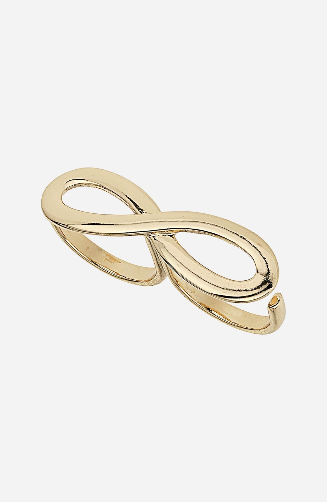 Main Image - Topshop Figure Eight Double Ring