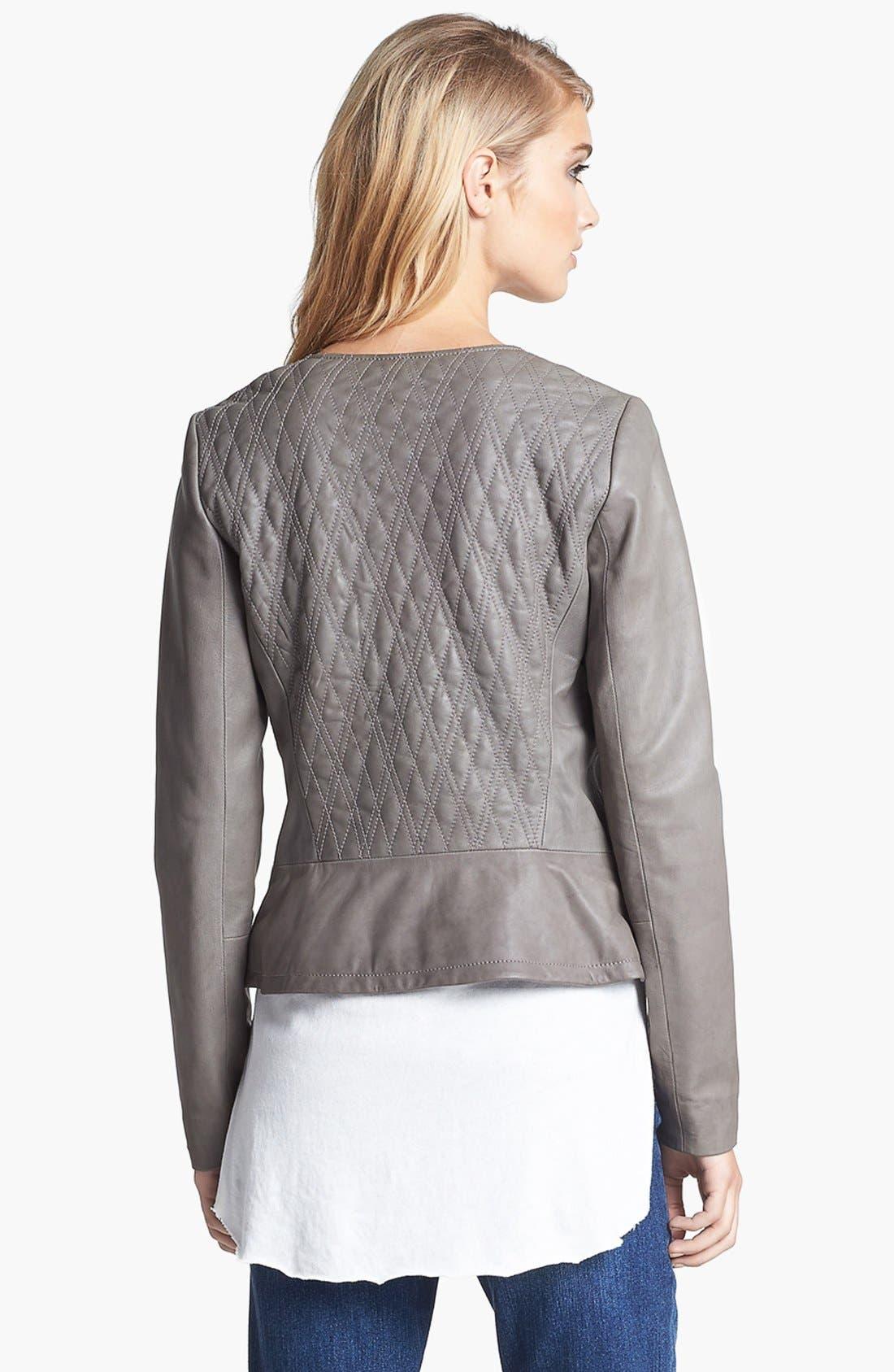 Alternate Image 2  - Hinge® Quilted Leather Jacket
