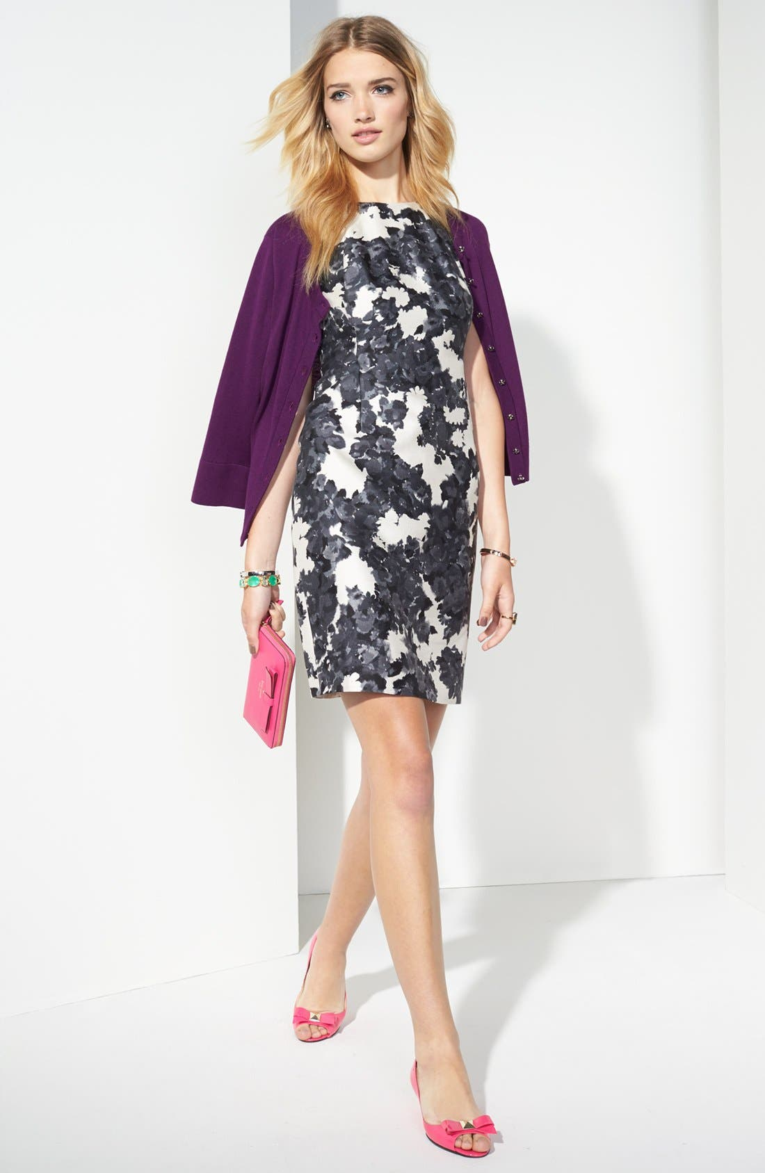 Alternate Image 4  - kate spade new york 'leena' print cotton & silk sheath dress
