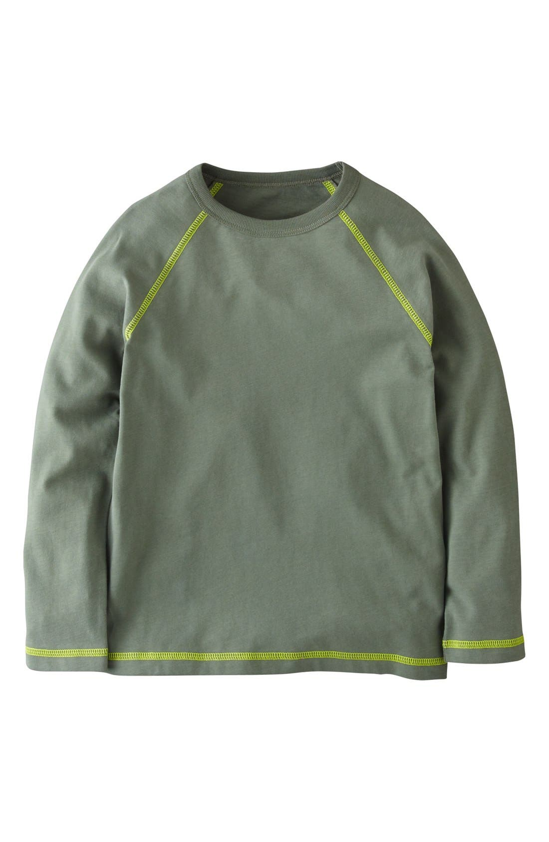 Alternate Image 1 Selected - Mini Boden Sueded Cotton T-Shirt (Toddler Boys, Little Boys & Big Boys)