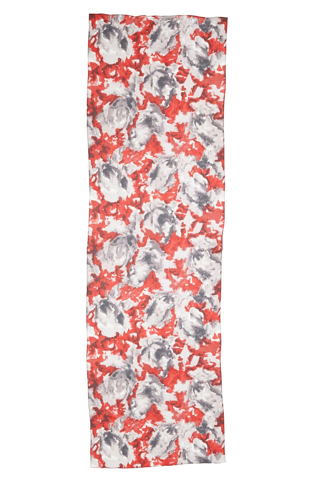 Alternate Image 2  - St. John Collection Abstract Blossom Print Silk Georgette Scarf