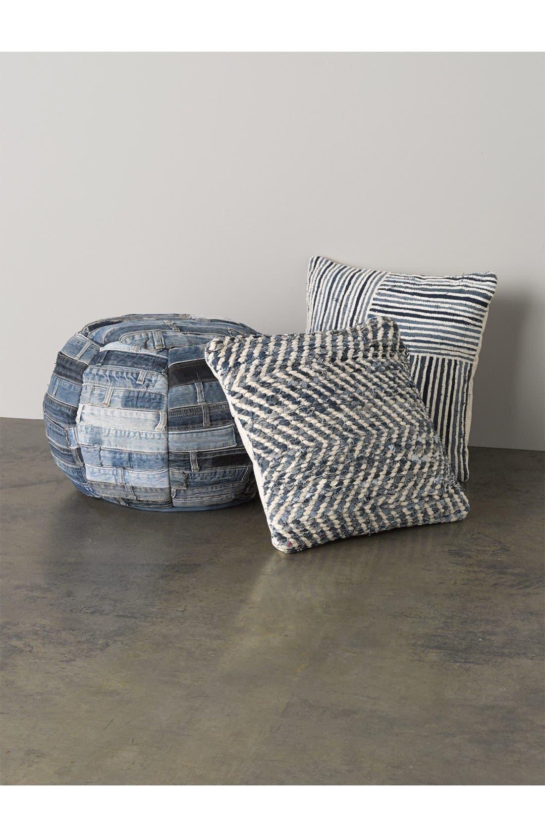 Alternate Image 3  - Mina Victory Denim Stripe Pillow