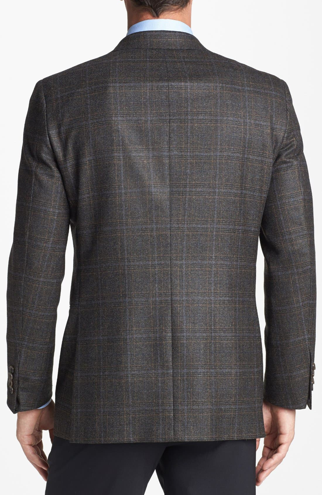 Alternate Image 3  - Hickey Freeman 'B Series' Classic Fit Plaid Sportcoat