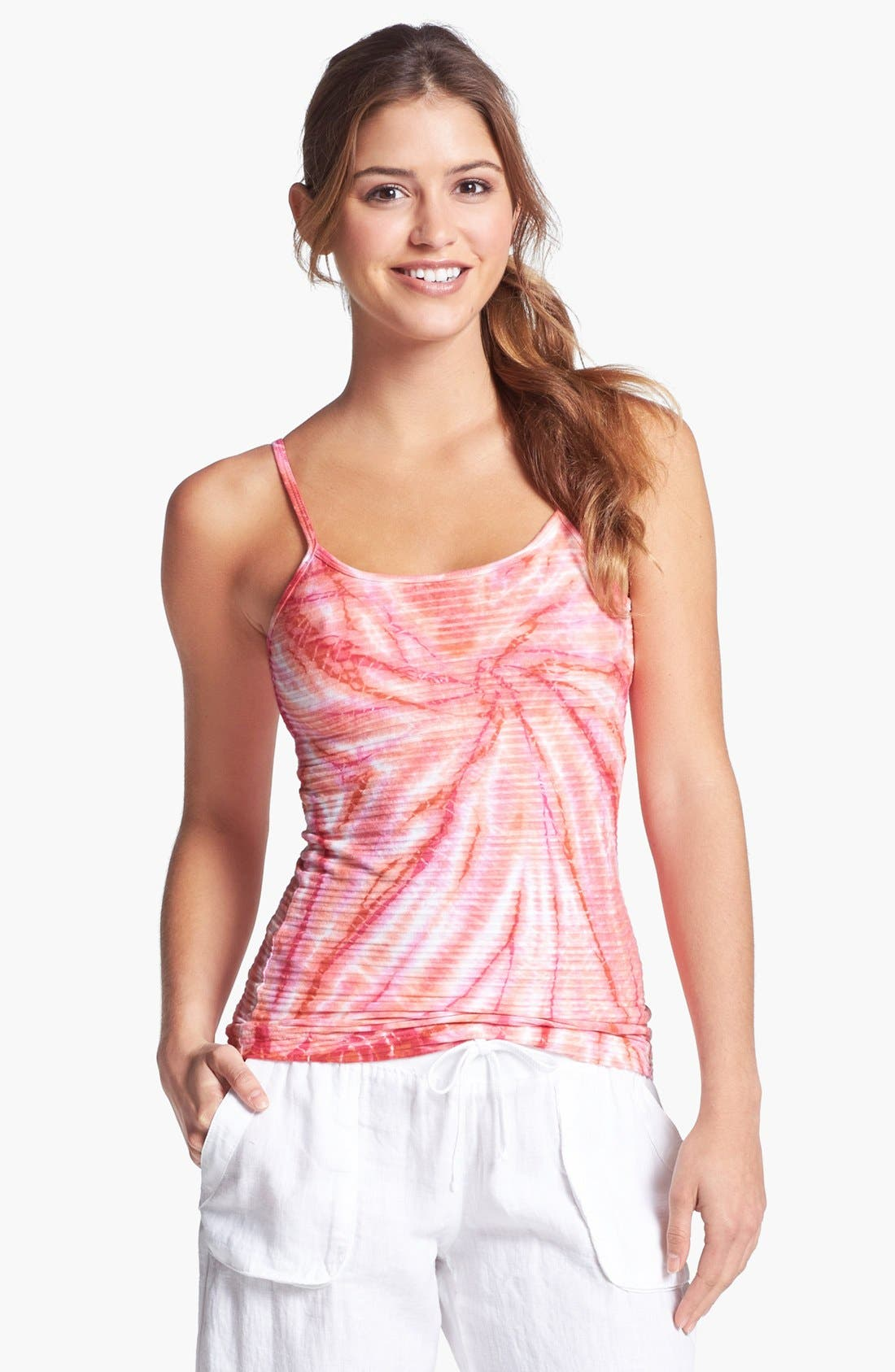 Alternate Image 1 Selected - Hard Tail Ribbed Scoop Neck Camisole