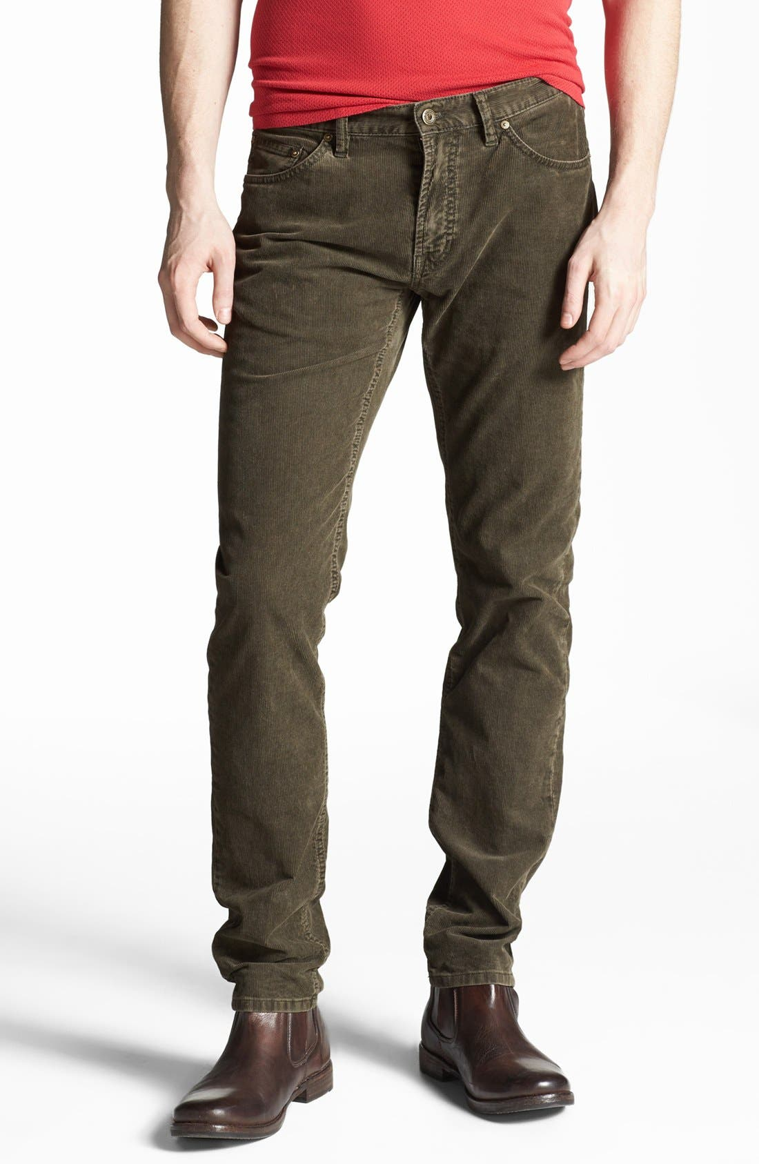 Alternate Image 1 Selected - Gant by Michael Bastian Slim Straight Leg Corduroy Pants