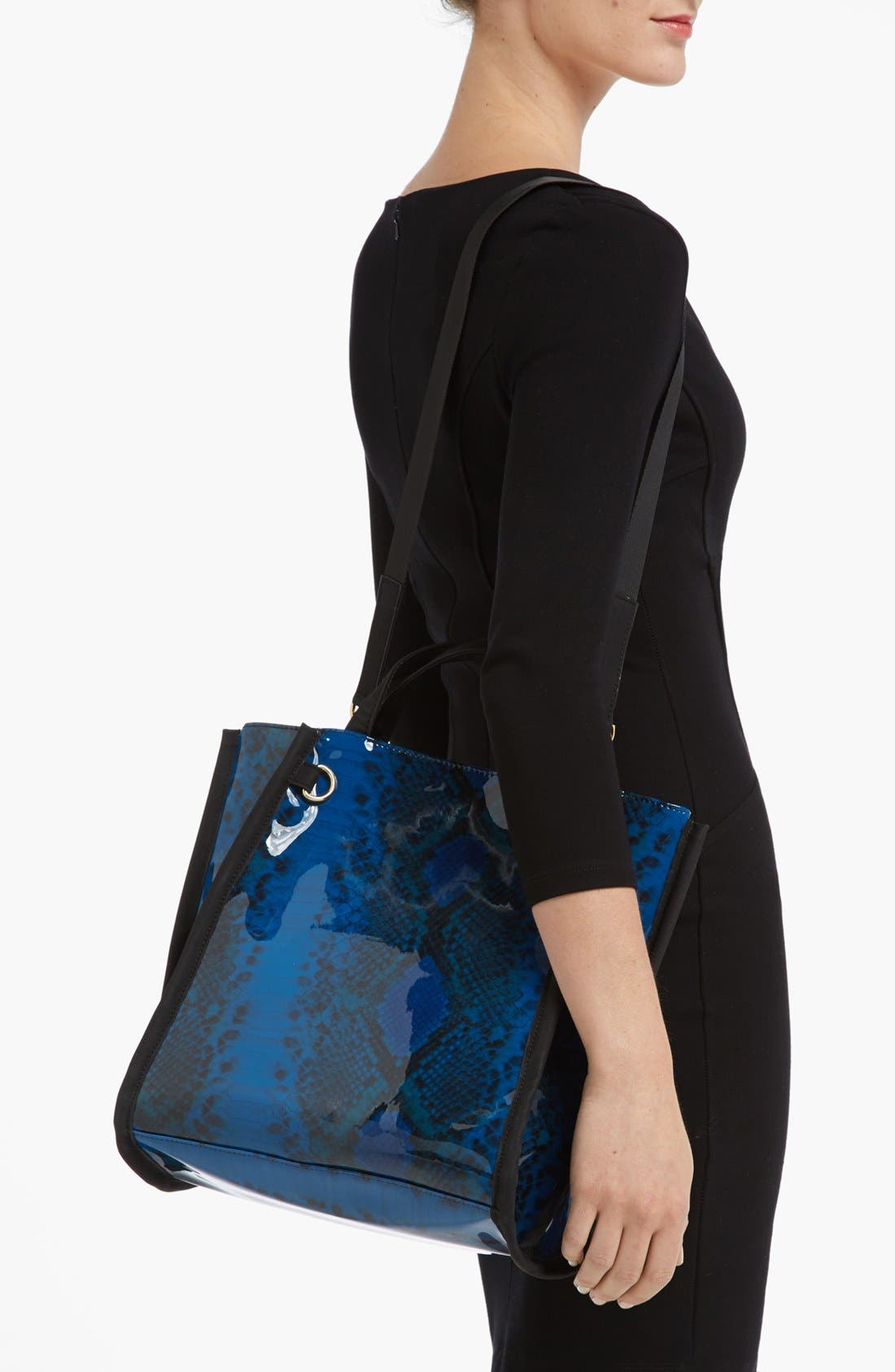 Alternate Image 2  - French Connection Snake Print Tote