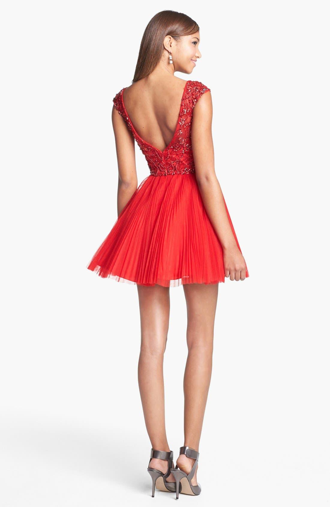 Alternate Image 2  - Sherri Hill Embellished Tulle Fit & Flare Dress (Online Exclusive)