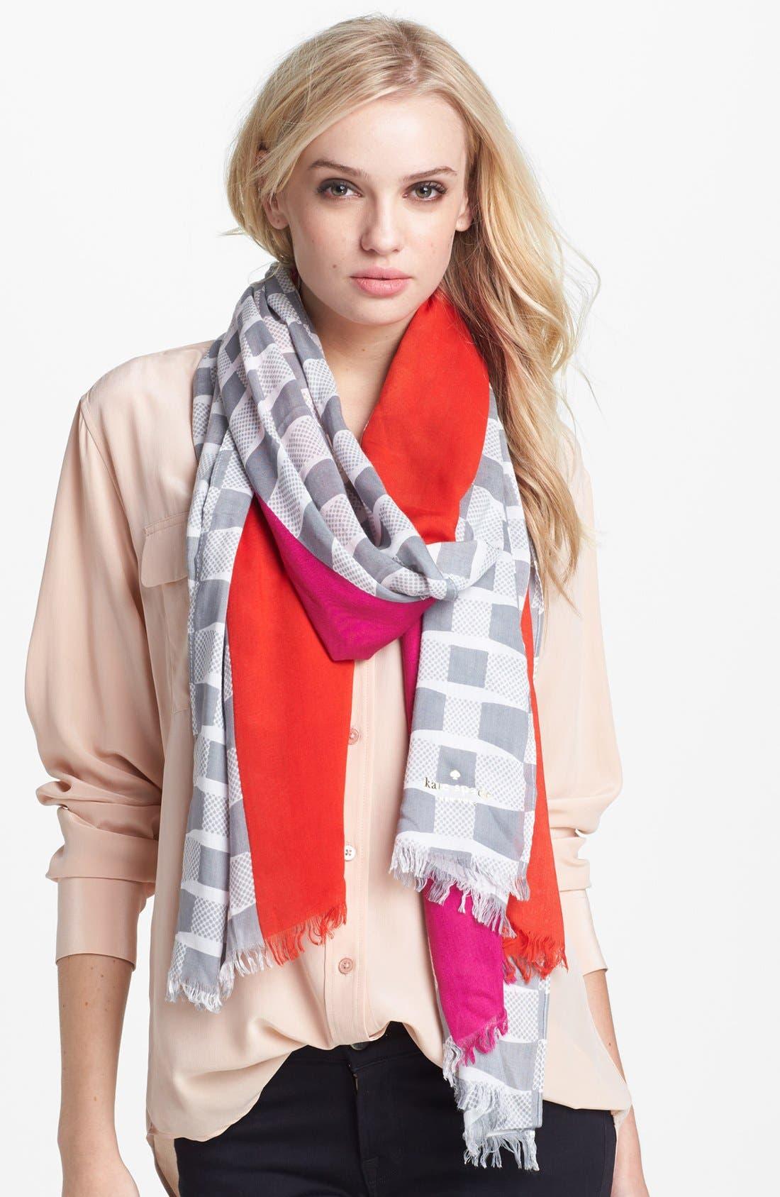 Main Image - kate spade new york 'bow print' scarf