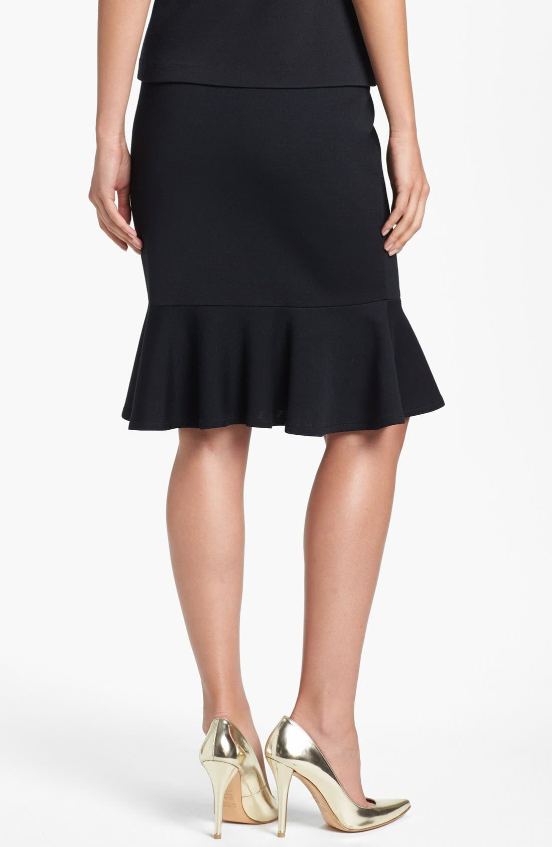 Alternate Image 2  - St. John Collection Flounce Hem Milano Knit Pencil Skirt