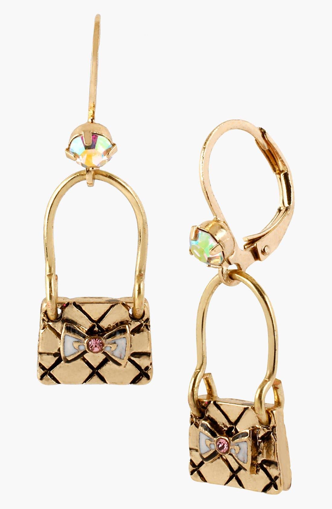Alternate Image 1 Selected - Betsey Johnson 'Paris' Handbag Drop Earrings