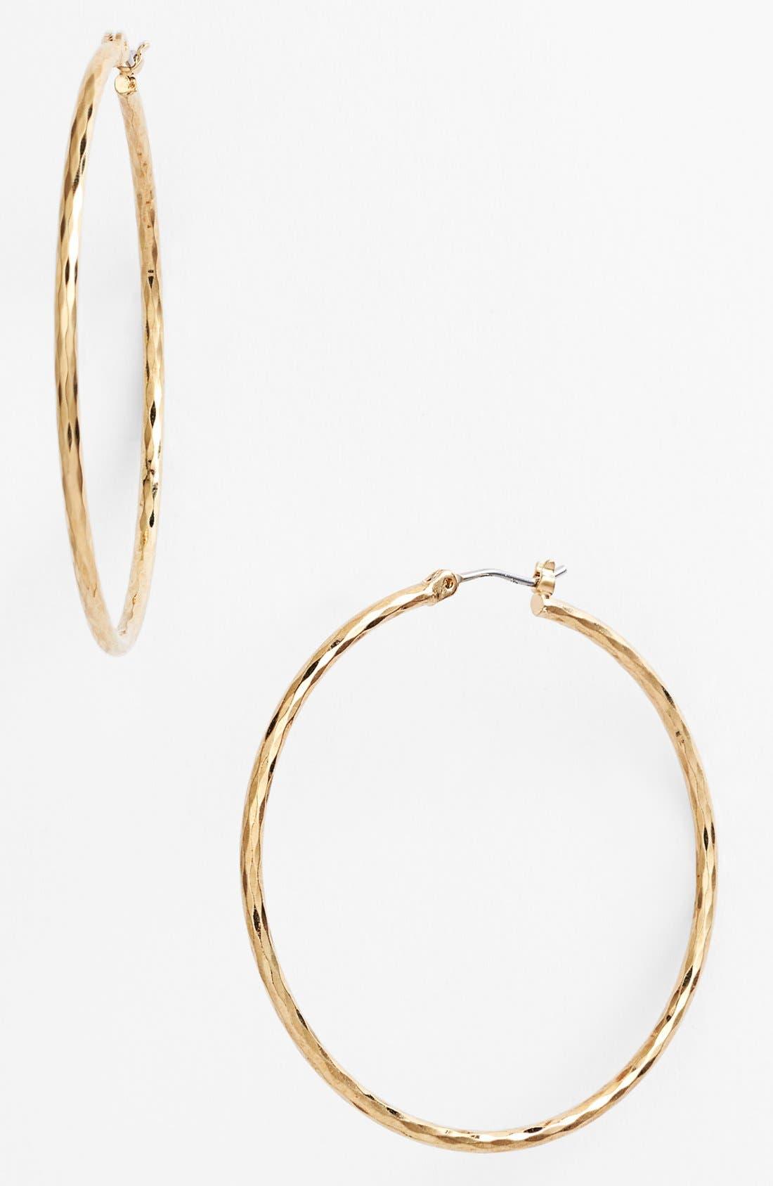 Main Image - Nordstrom Harlequin Facet Hoop Earrings