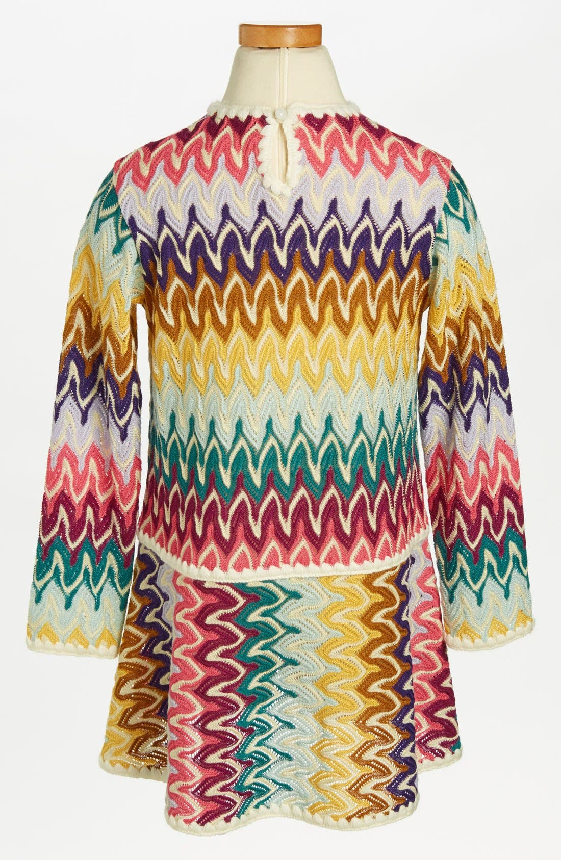 Alternate Image 2  - Missoni Long Sleeve Crochet Dress (Toddler Girls, Little Girls & Big Girls)