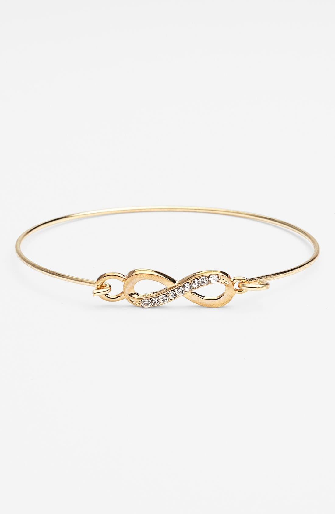 Alternate Image 1 Selected - Stephan & Co. Infinity Clasp Bangle (Juniors) (Online Only)