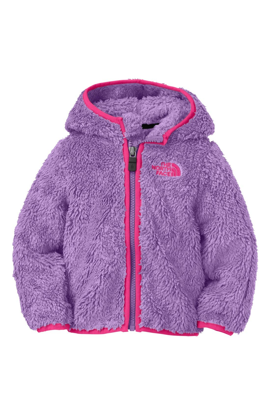 Alternate Image 1 Selected - The North Face 'Plushee' Fleece Jacket (Baby Girls)