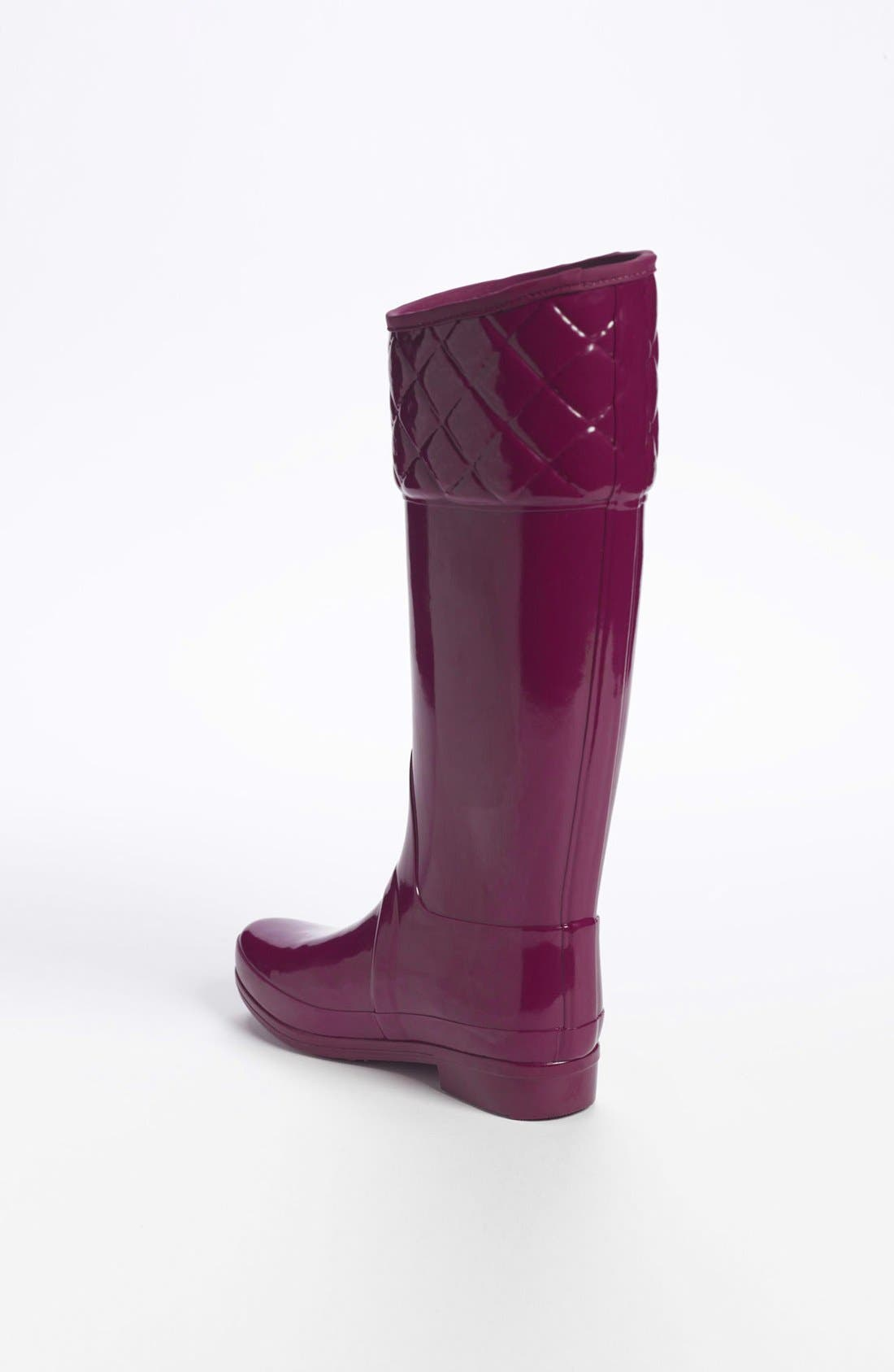 'Rigley' Rain Boot,                             Alternate thumbnail 2, color,                             Dark Ruby