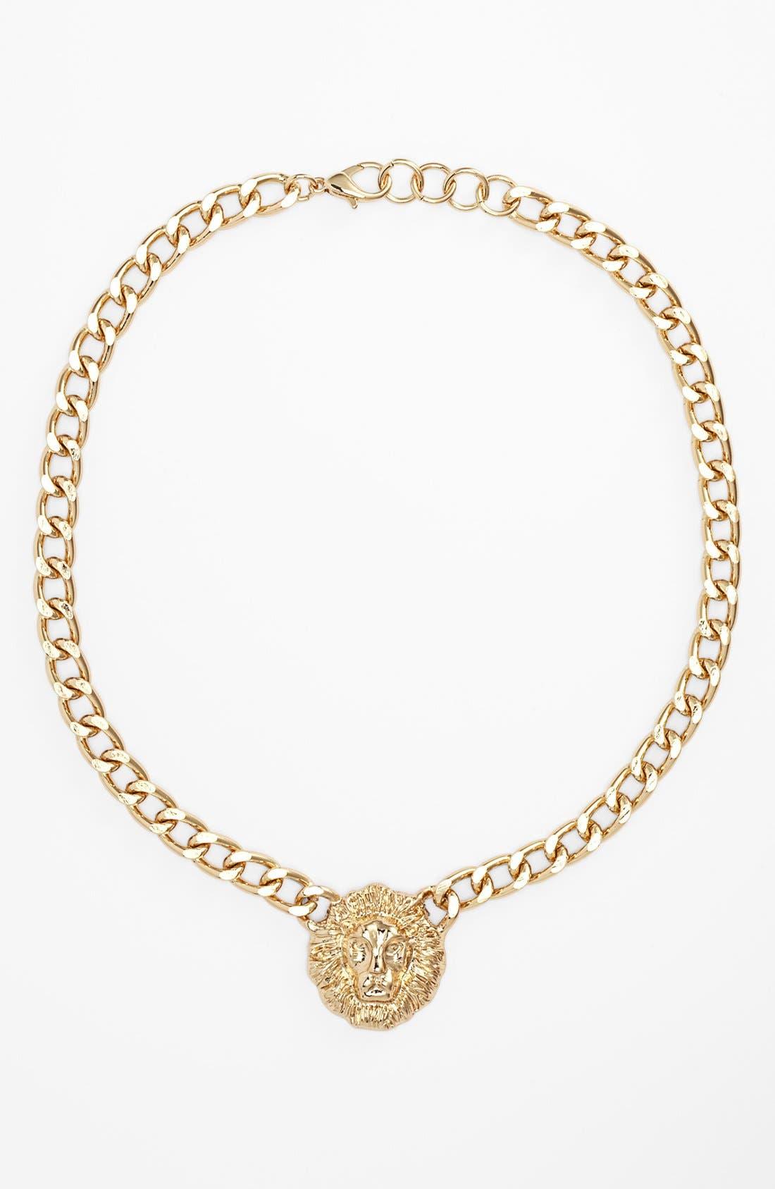 Alternate Image 1 Selected - BP. 'Lion' Chain Necklace (Juniors)