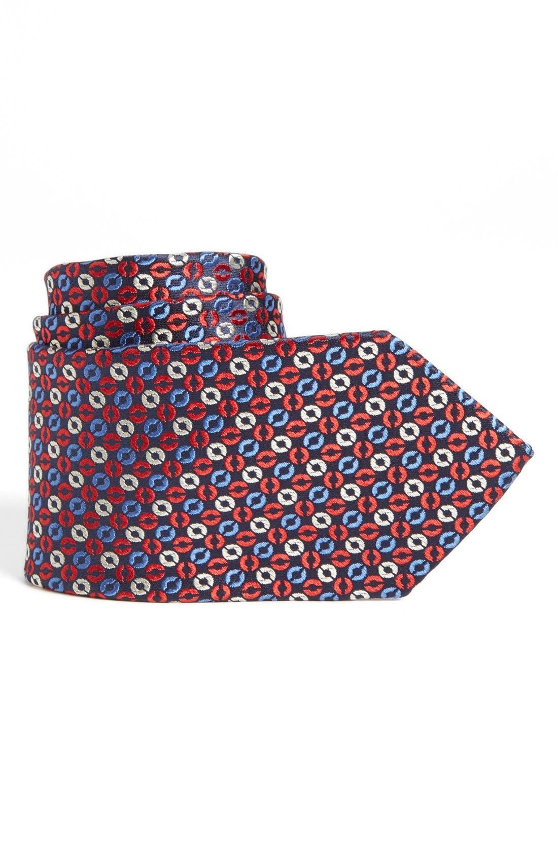 Main Image - Joseph Abboud Circle Pattern Woven Silk Tie (Boys)
