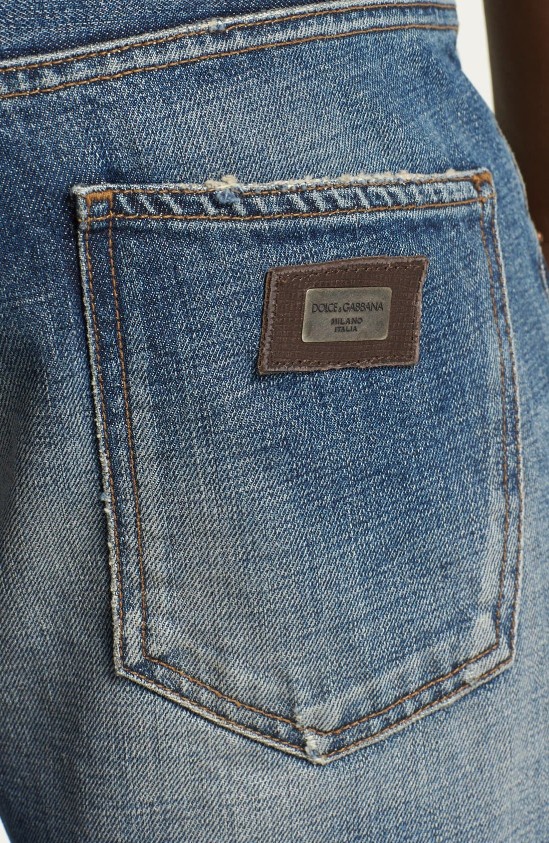 Alternate Image 4  - Dolce&Gabbana Slim Fit Jeans (Light Blue)