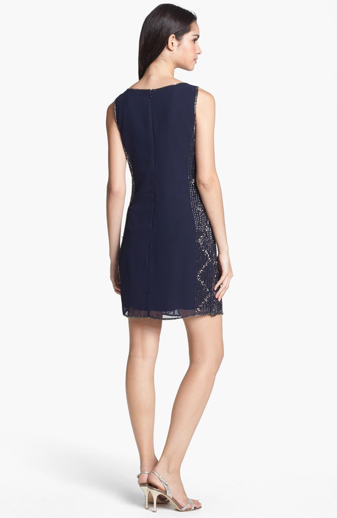Alternate Image 2  - Adrianna Papell Embellished Chiffon Shift Dress
