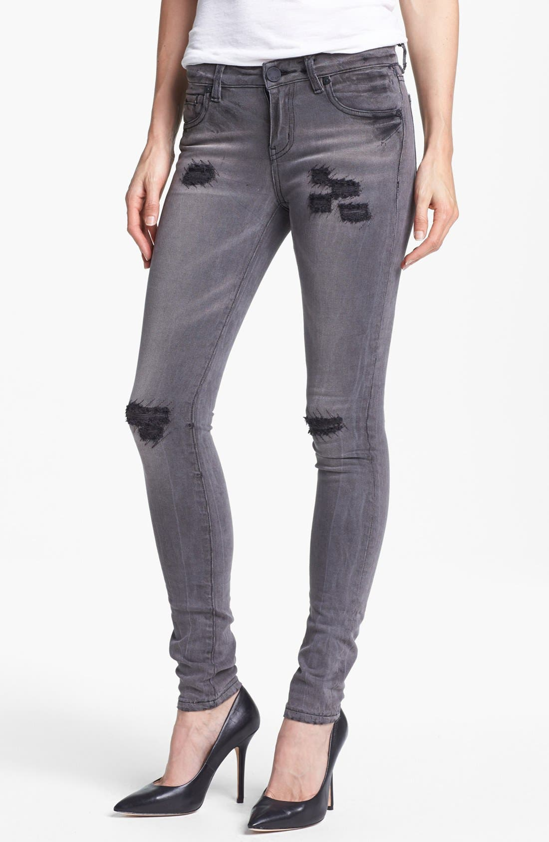 Alternate Image 1 Selected - KUT from the Kloth 'Mia' Stretch Skinny Jeans (Simulating)