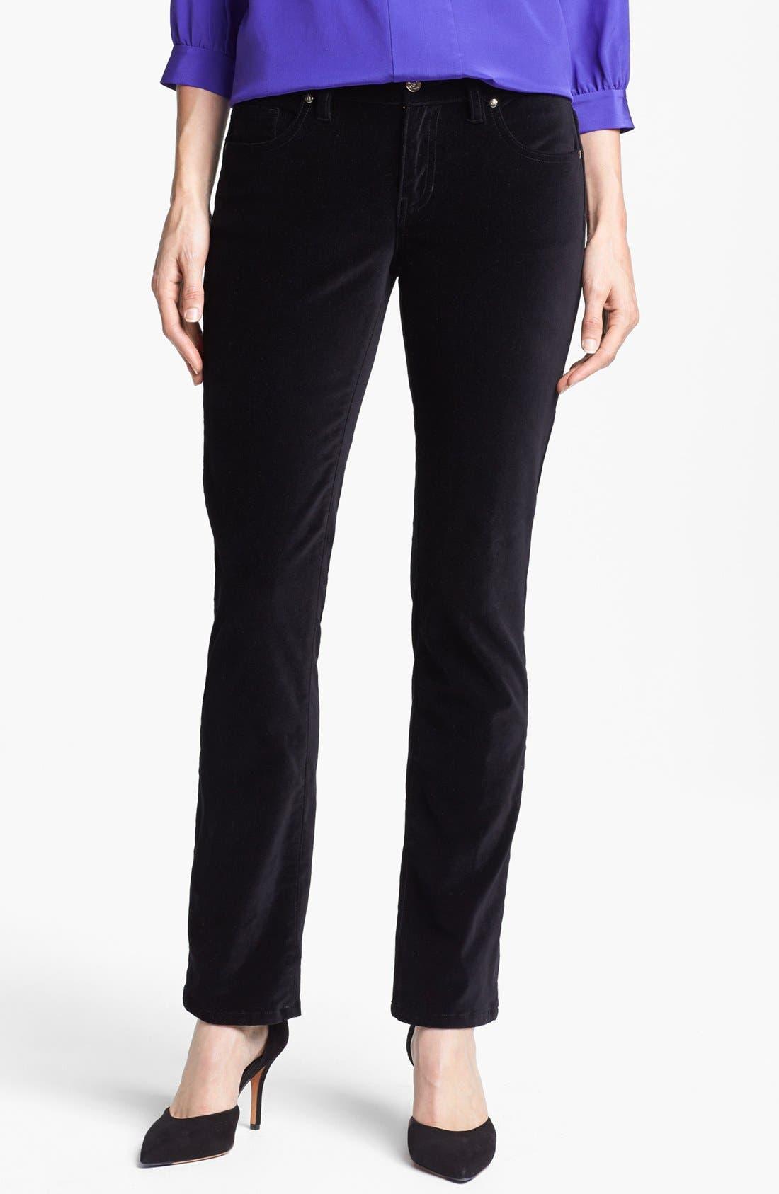 Alternate Image 1 Selected - kate spade new york straight leg velvet pants