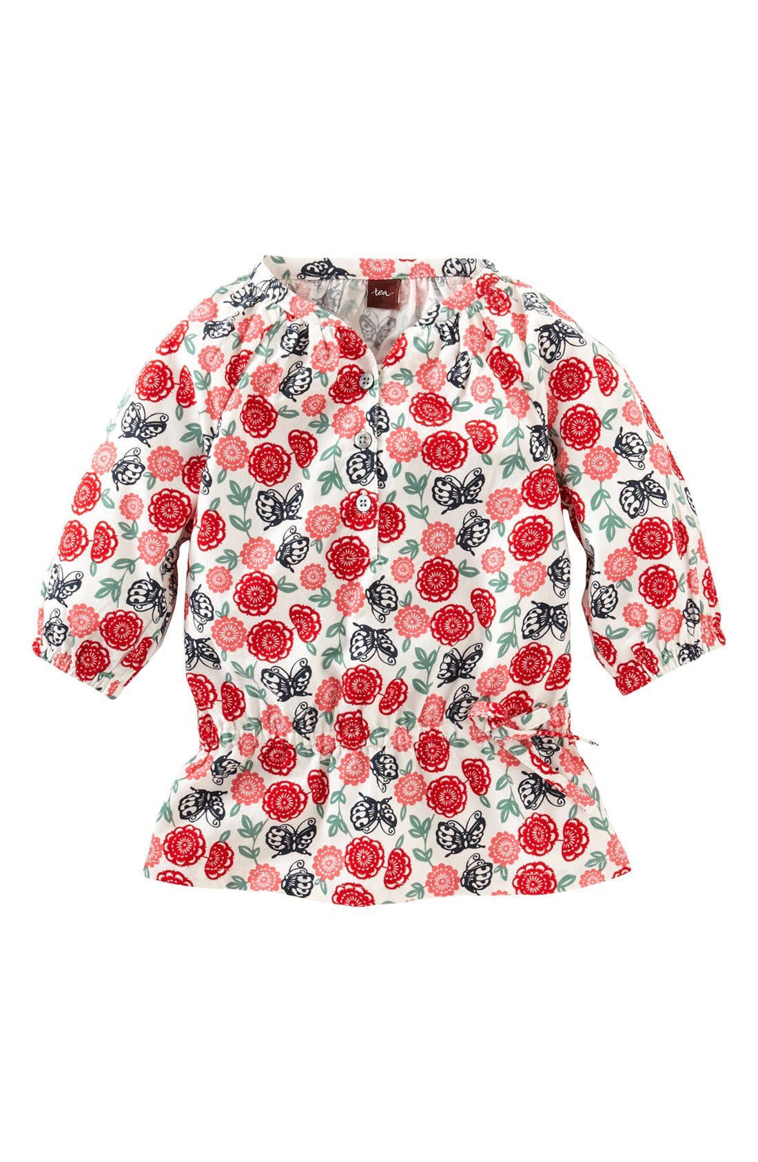Main Image - Tea Collection 'Butterfly' Corduroy Top (Little Girls & Big Girls)