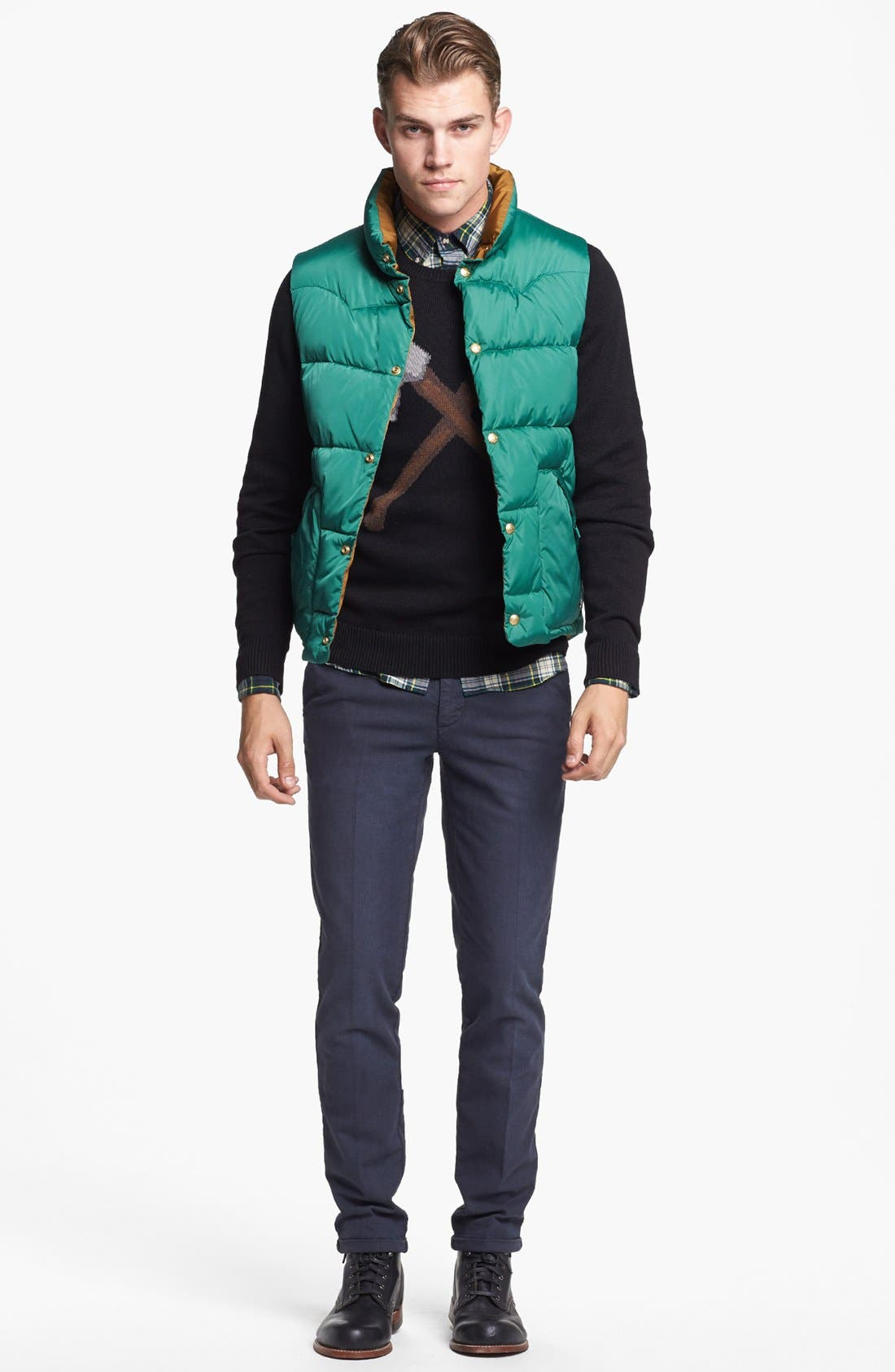 Reversible Quilted Vest,                             Alternate thumbnail 4, color,                             Medium Green