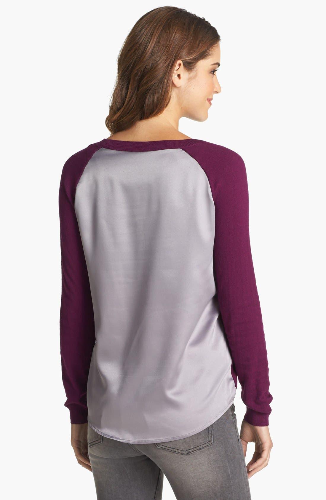 Alternate Image 4  - Caslon® Crewneck High/Low Sweater