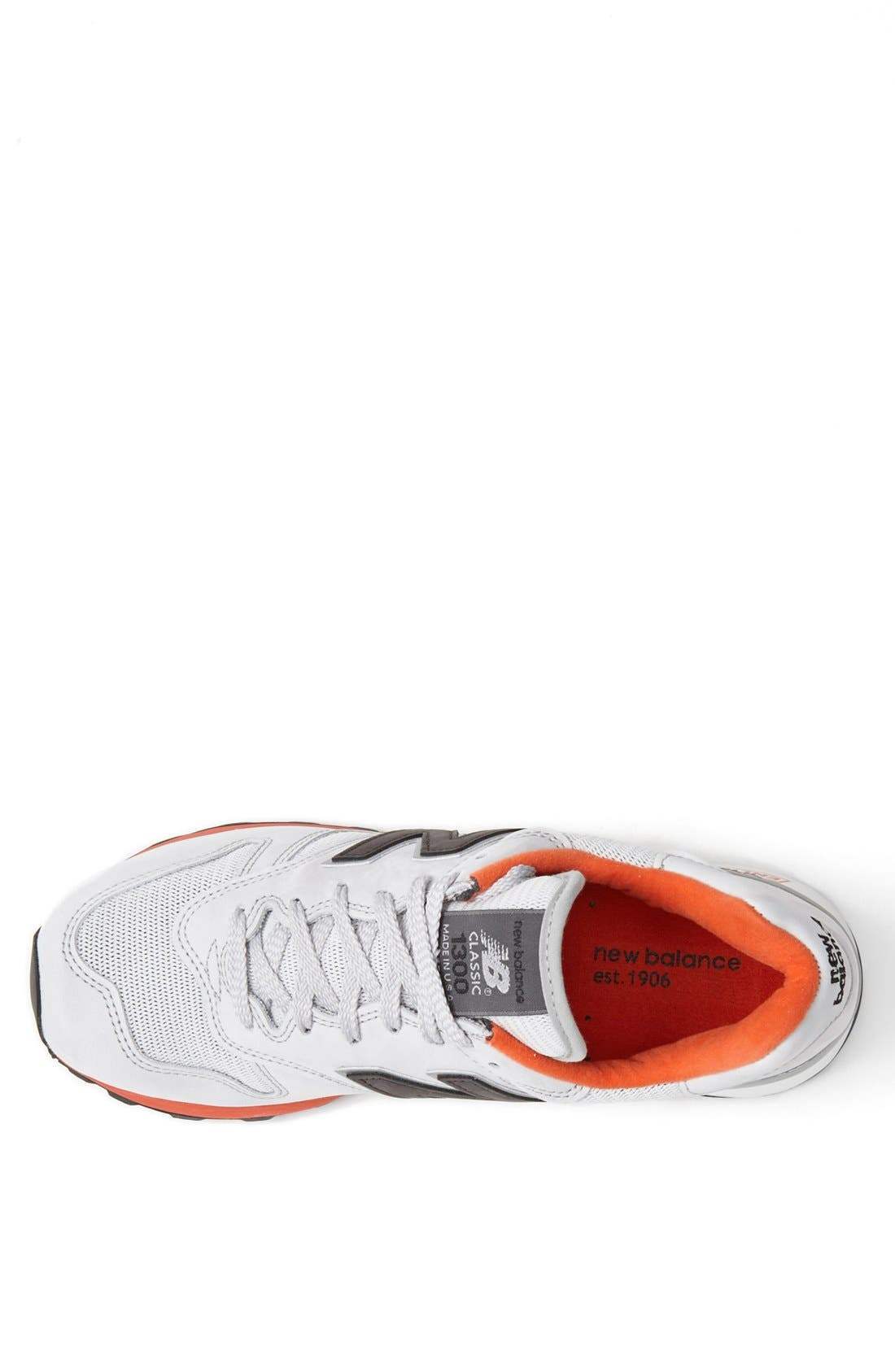'1300 Classic' Sneaker,                             Alternate thumbnail 3, color,                             Grey/ Red