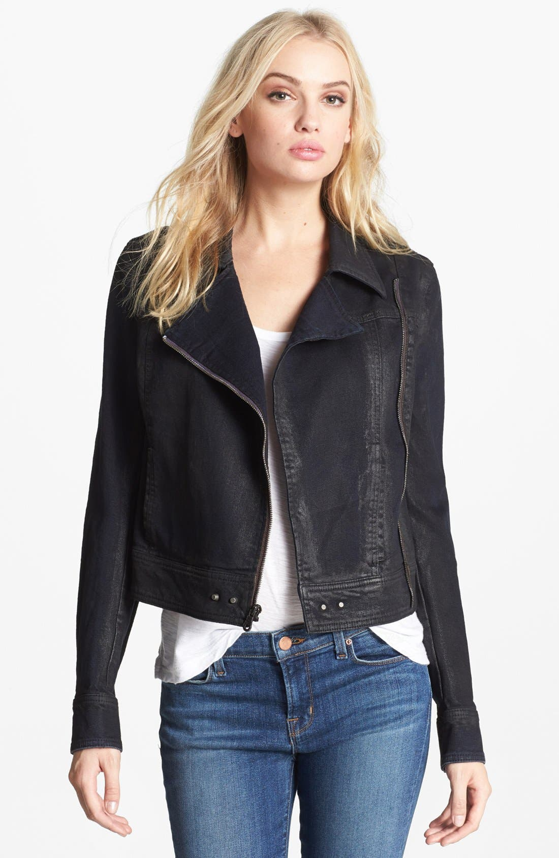 Main Image - Paige Denim 'Brooklyn' Denim Moto Jacket