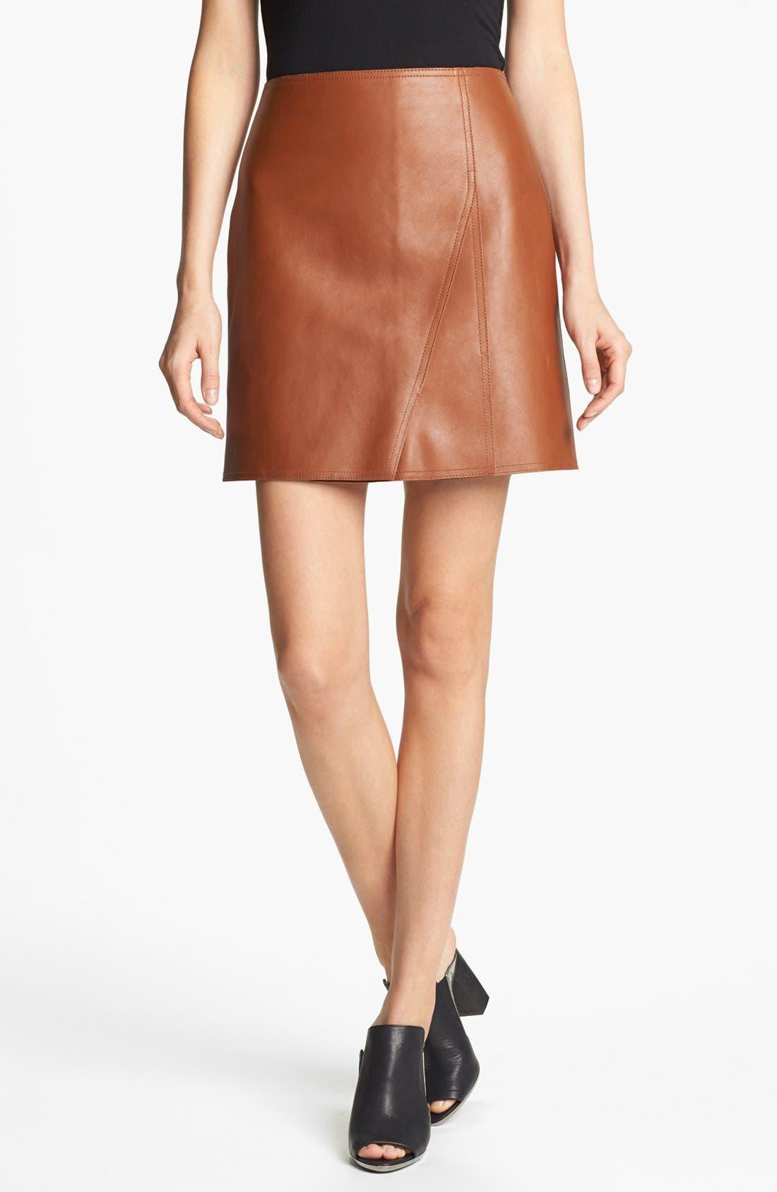 Alternate Image 1 Selected - 3.1 Phillip Lim Leather Miniskirt