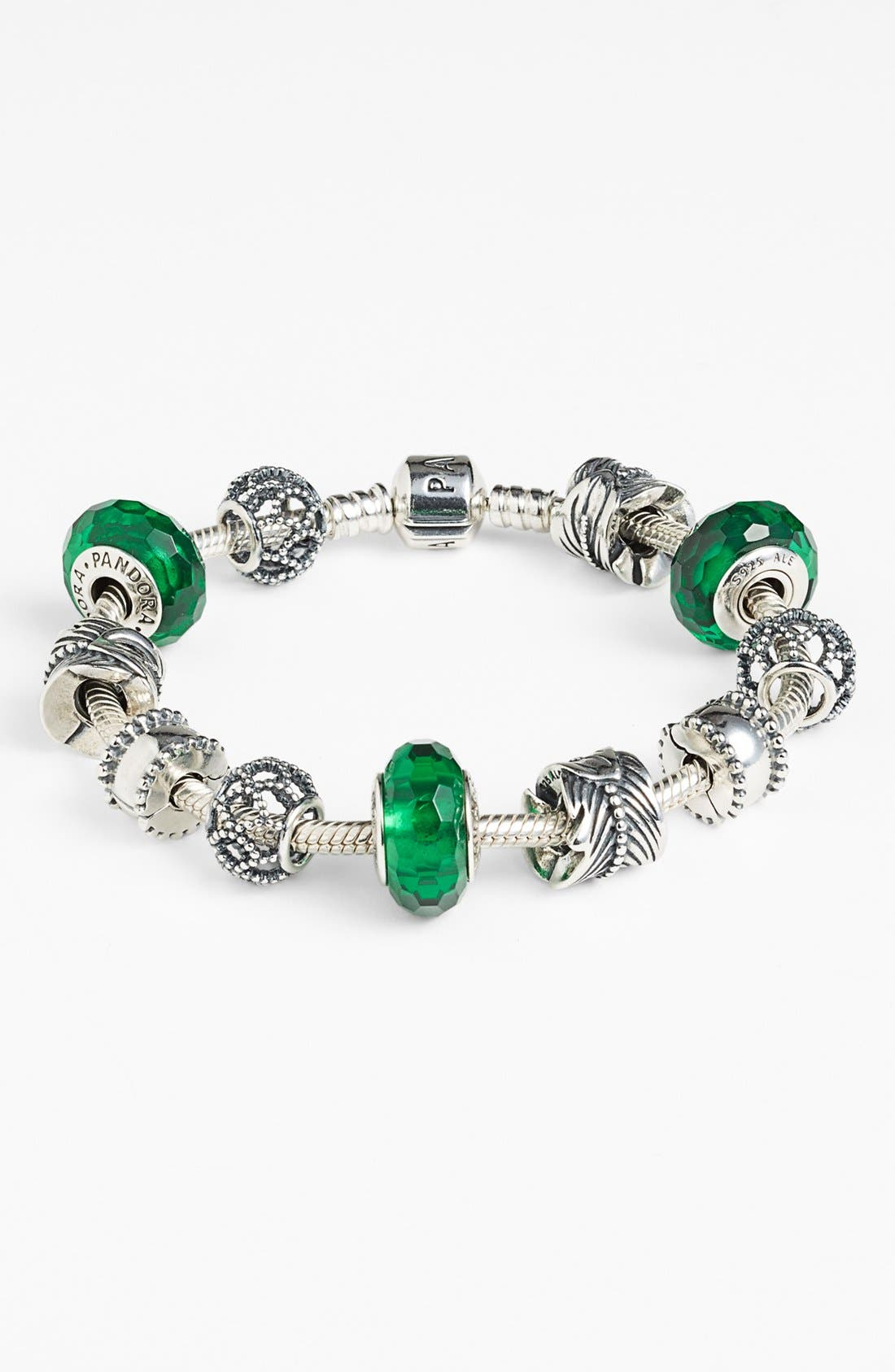 Alternate Image 2  - PANDORA 'Fascinating Green' Charm