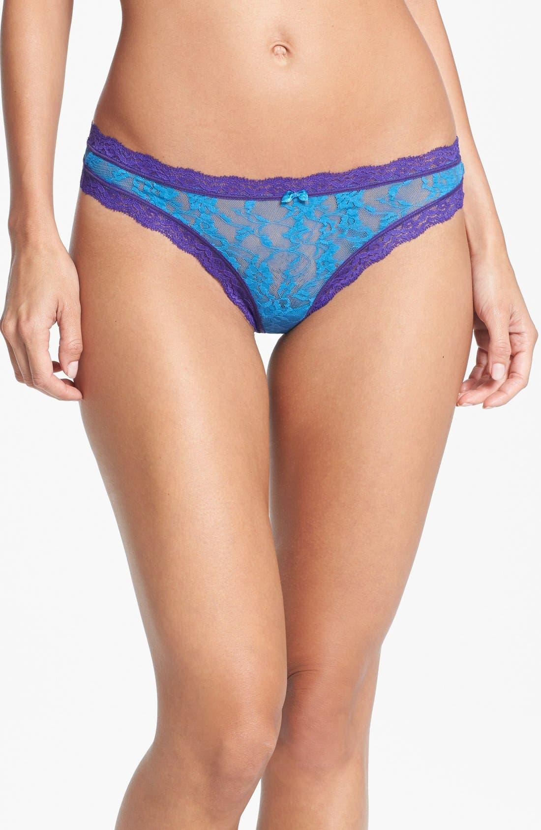 Alternate Image 1 Selected - DKNY 'Signature Lace' Thong
