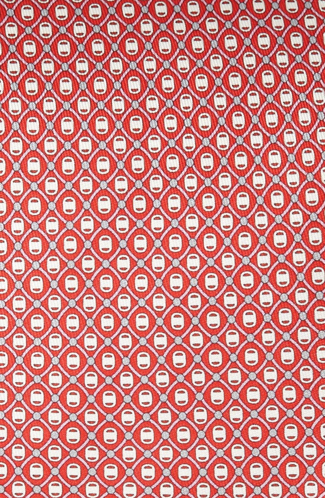 Alternate Image 2  - Salvatore Ferragamo Grid Print Silk Tie