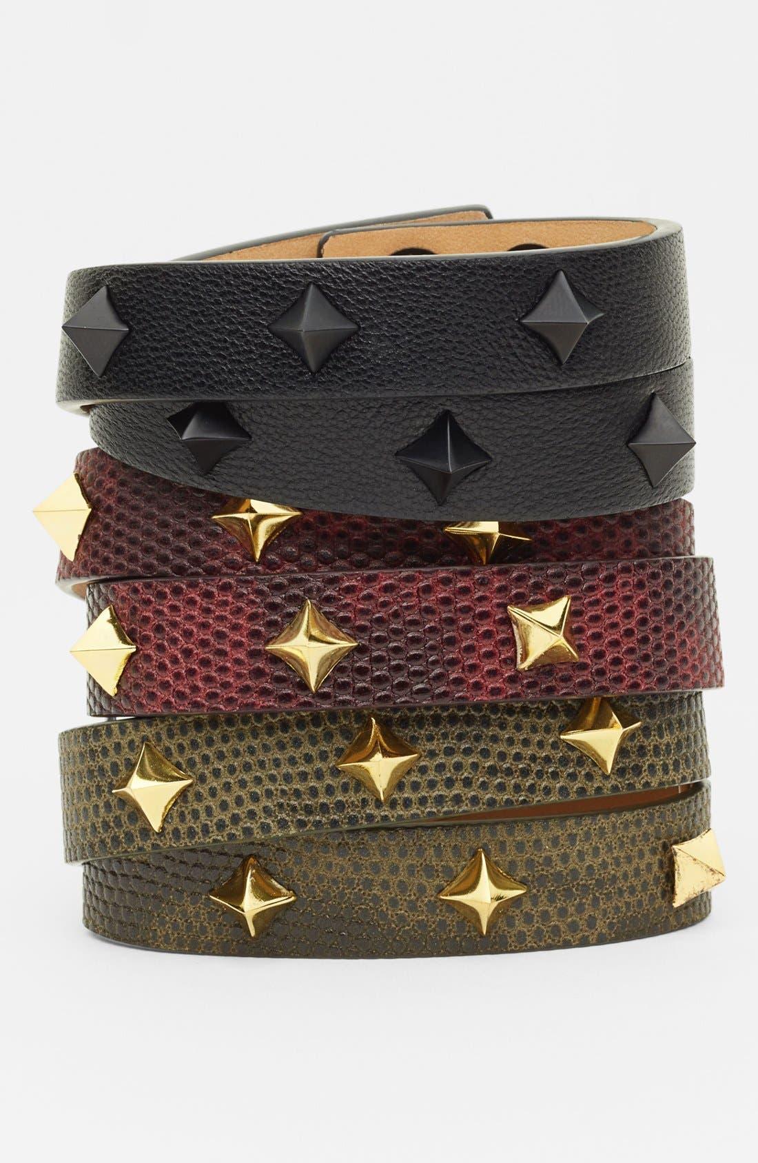 Alternate Image 2  - Vince Camuto 'Tour of Duty' Studded Leather Wrap Bracelet