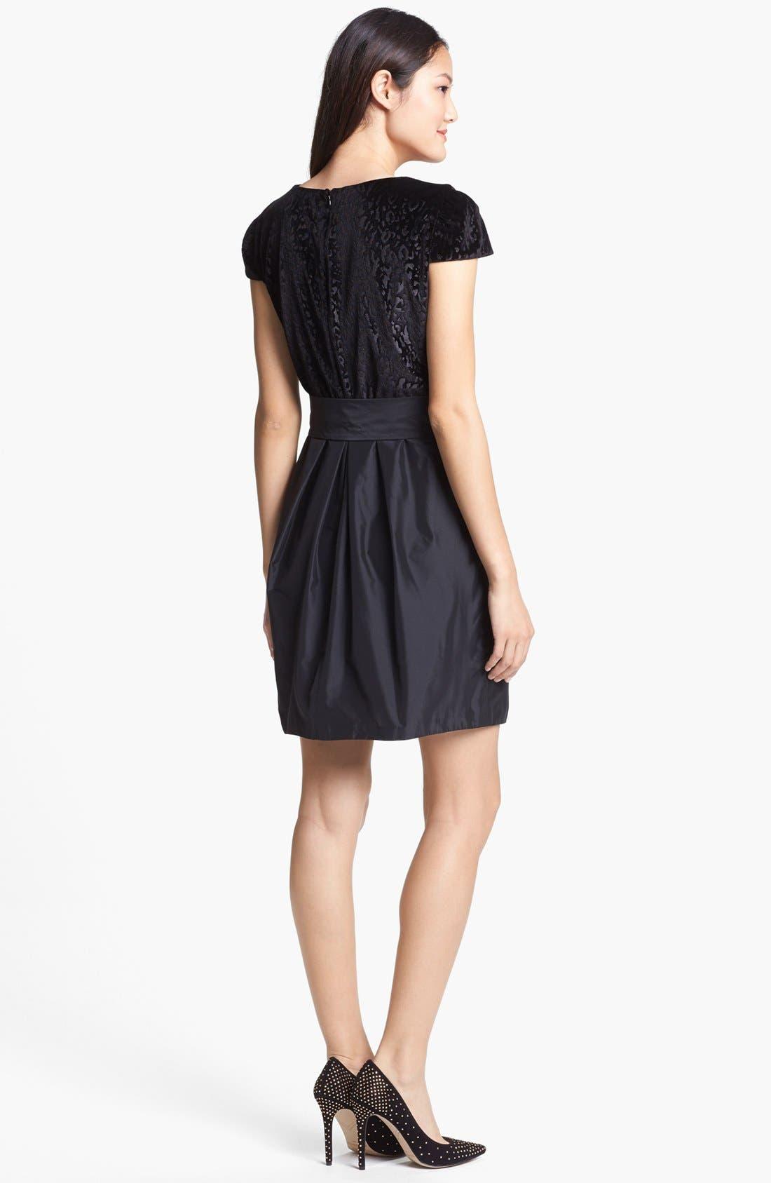 Alternate Image 2  - Ivy & Blu Mixed Media Fit & Flare Dress