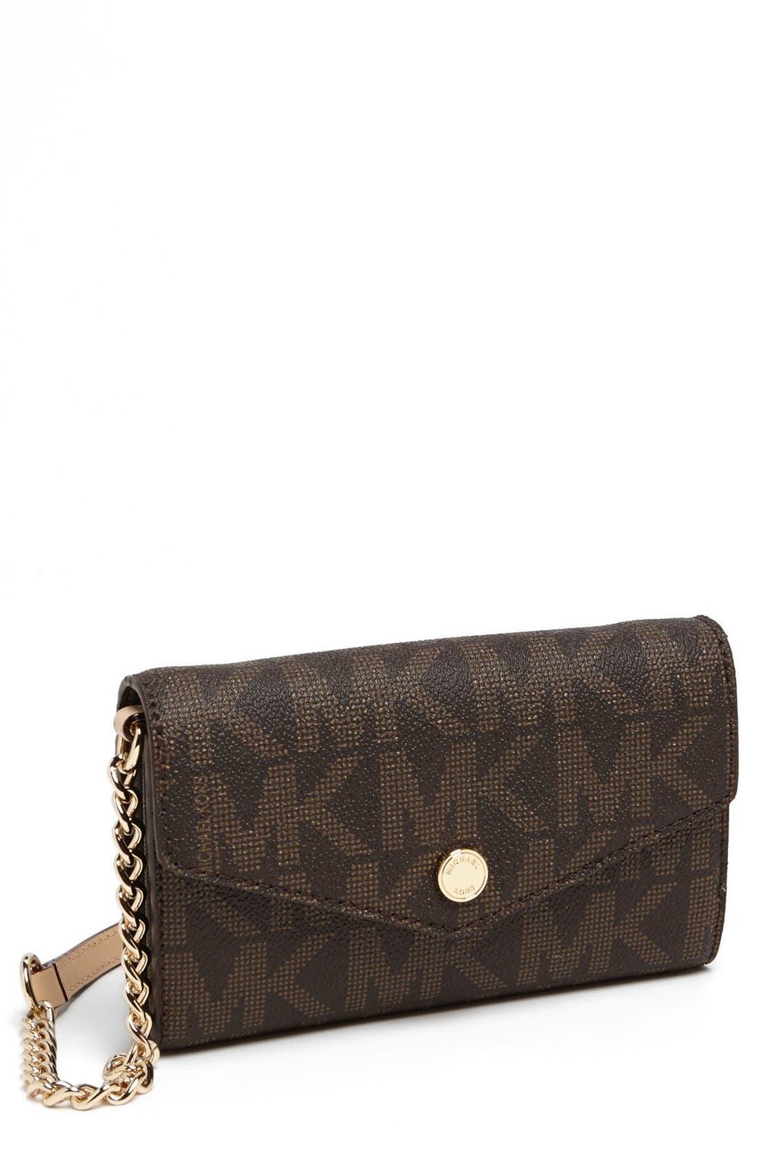 Main Image - MICHAEL Michael Kors 'Signature - Saffiano' Crossbody Phone Bag