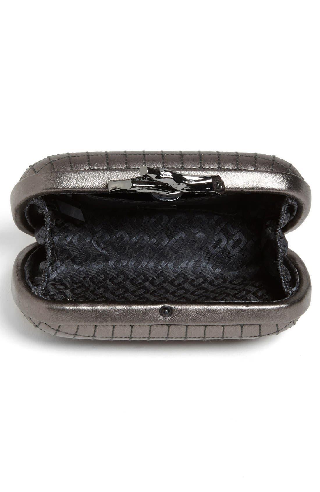 Alternate Image 3  - Diane von Furstenberg 'Lytton - Small' Quilted Metallic Leather Clutch