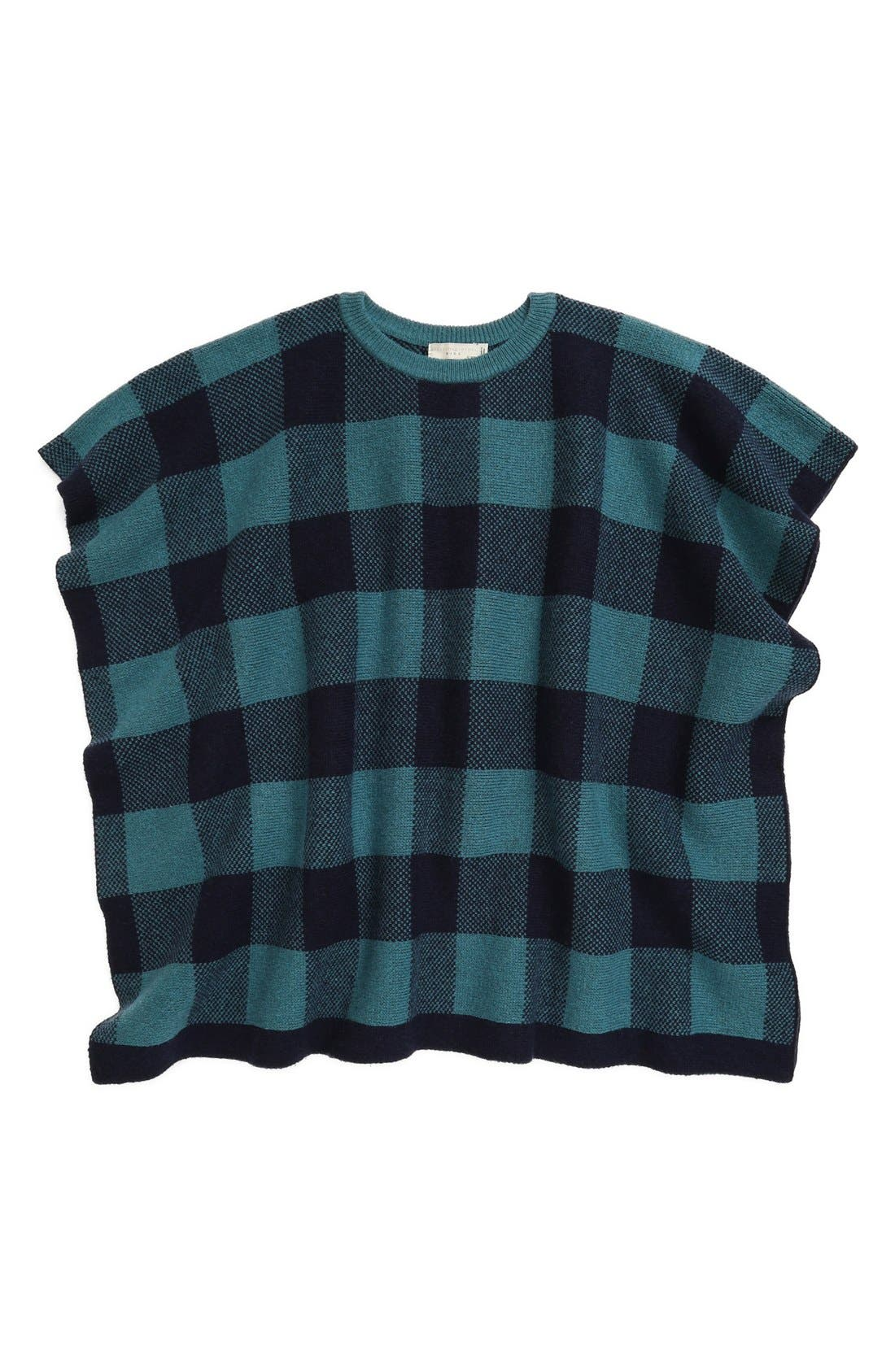 Alternate Image 1 Selected - Stella McCartney Kids 'Agnes' Check Poncho (Toddler, Little Girls & Big Girls)