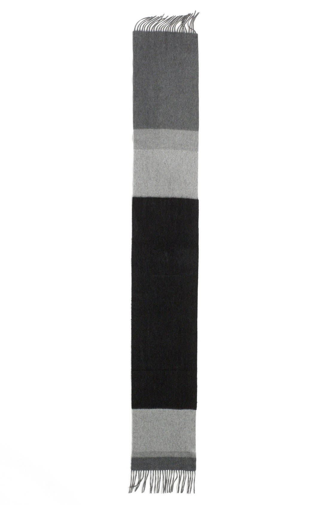 Alternate Image 2  - Nordstrom Colorblock Woven Cashmere Scarf