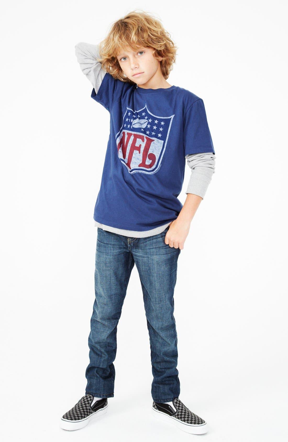 Alternate Image 2  - Junk Food 'NFL Shield' T-Shirt (Big Boys)
