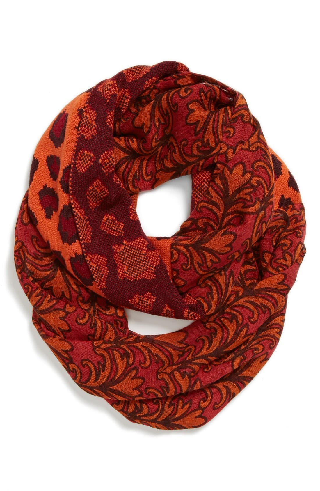 Alternate Image 1 Selected - Collection XIIX Print & Jacquard Infinity Scarf