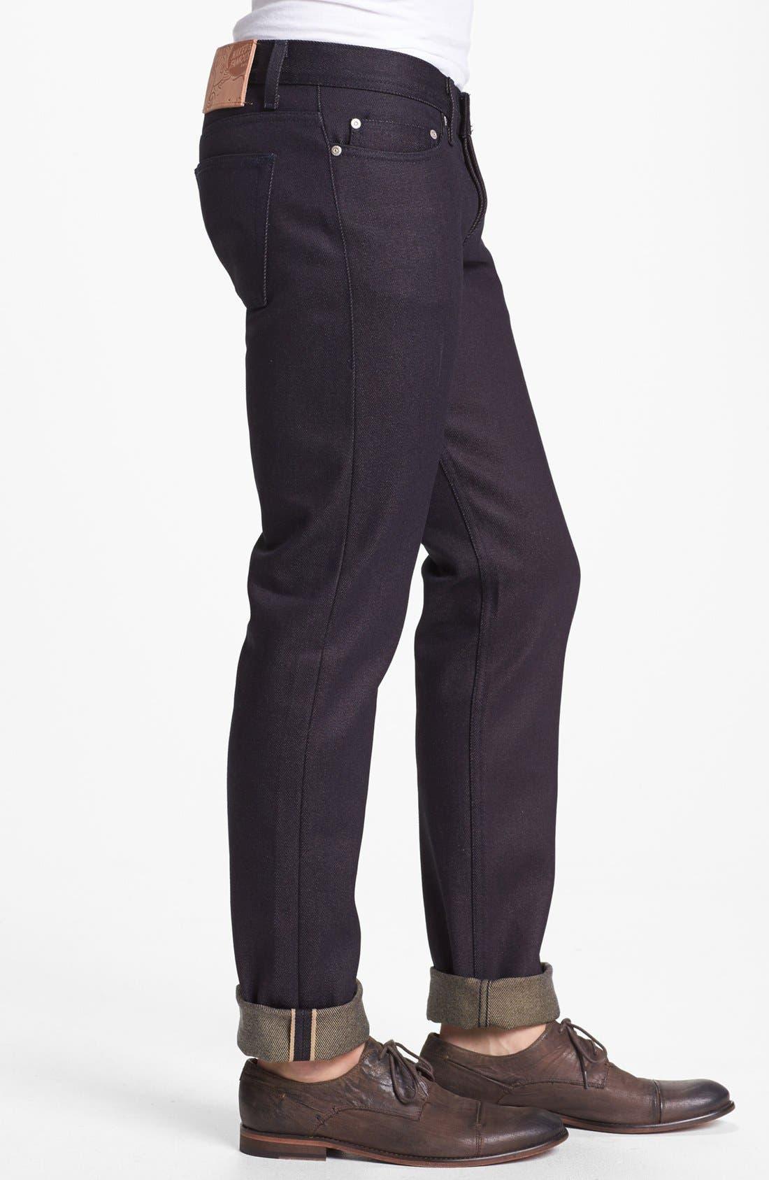 Alternate Image 3  - Naked & Famous Denim 'Weird Guy' Slim Fit Selvedge Jeans (Elephant 3)