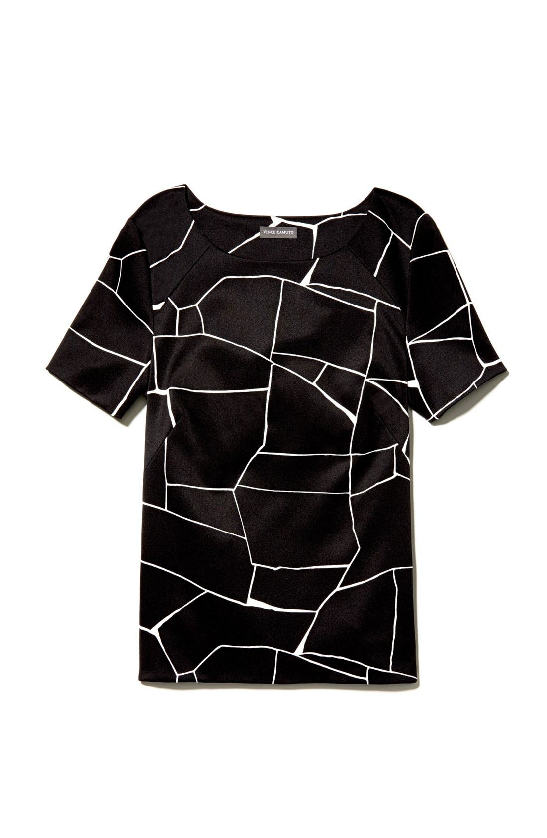 Alternate Image 6  - Vince Camuto Short Sleeve Print Blouse