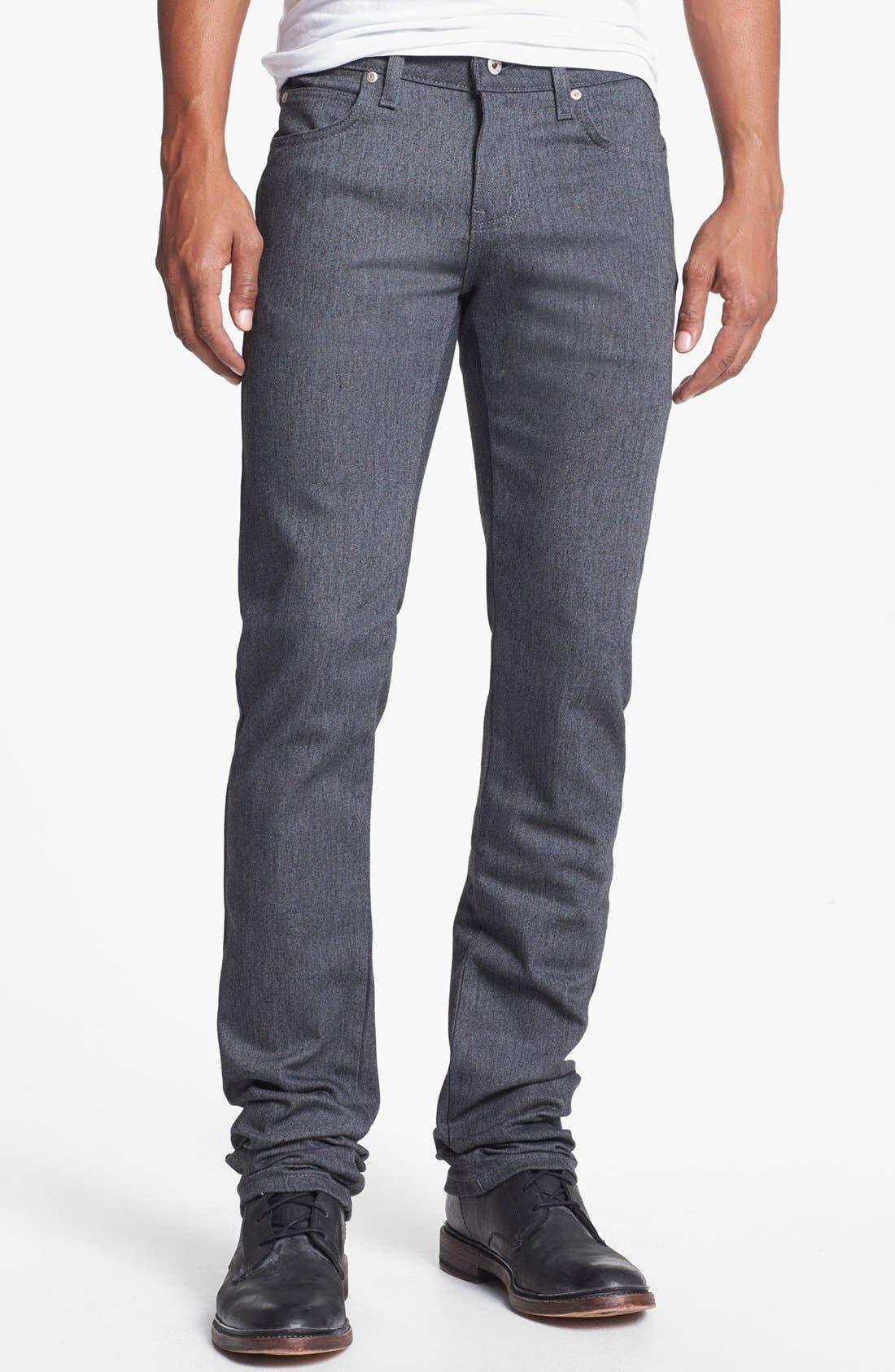 Alternate Image 2  - Naked & Famous Denim 'Skinny Guy' Skinny Fit Jeans (Heather Grey Stretch)