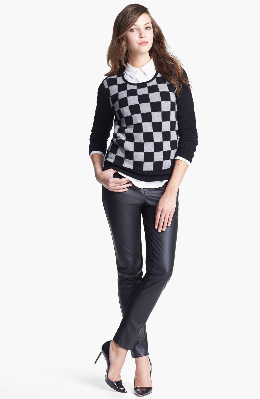 Alternate Image 1 Selected - Halogen® Roll Neck Cashmere Sweater