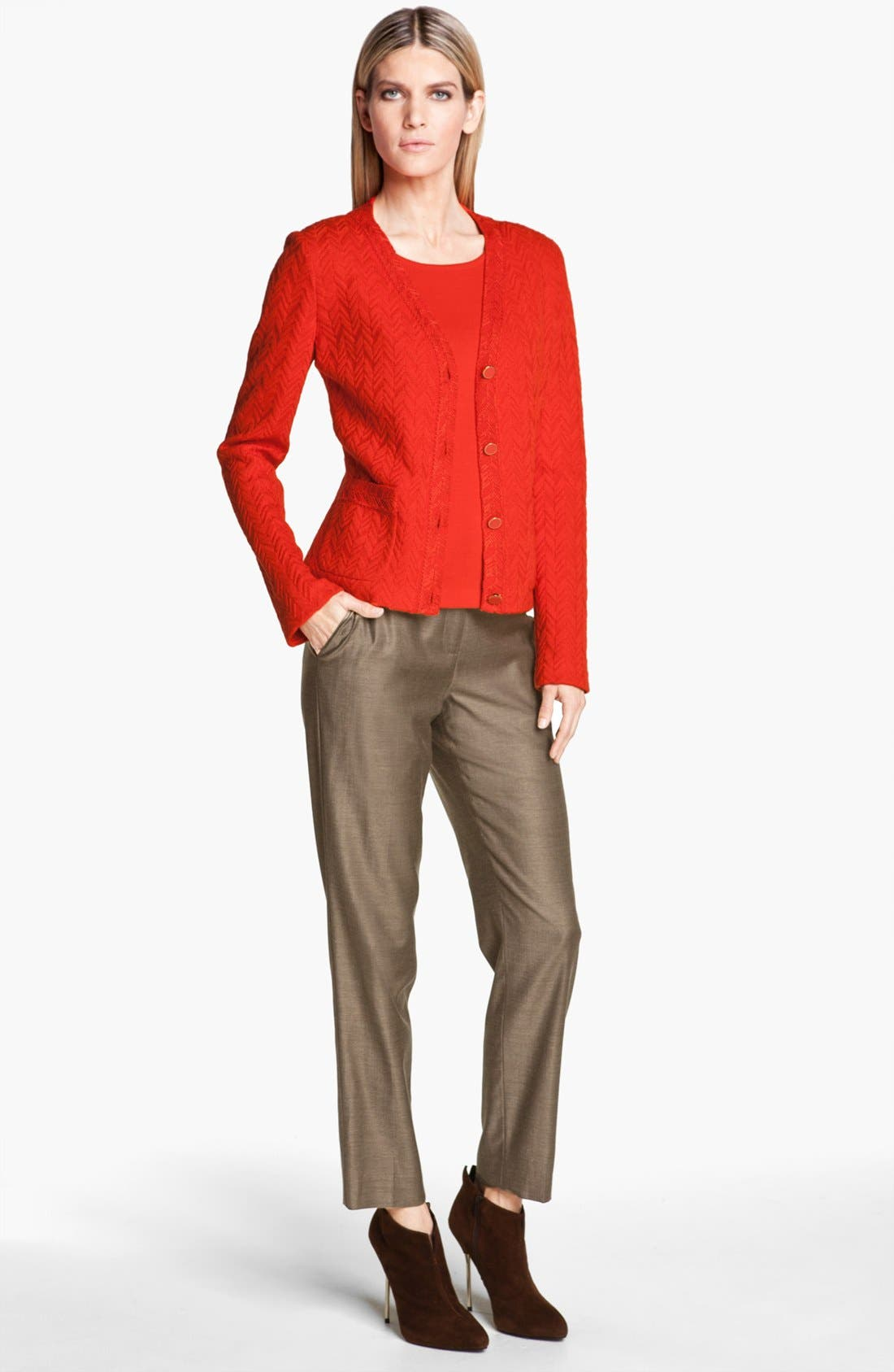 Alternate Image 4  - St. John Collection 'Emma' Shimmer Twill Crop Pants