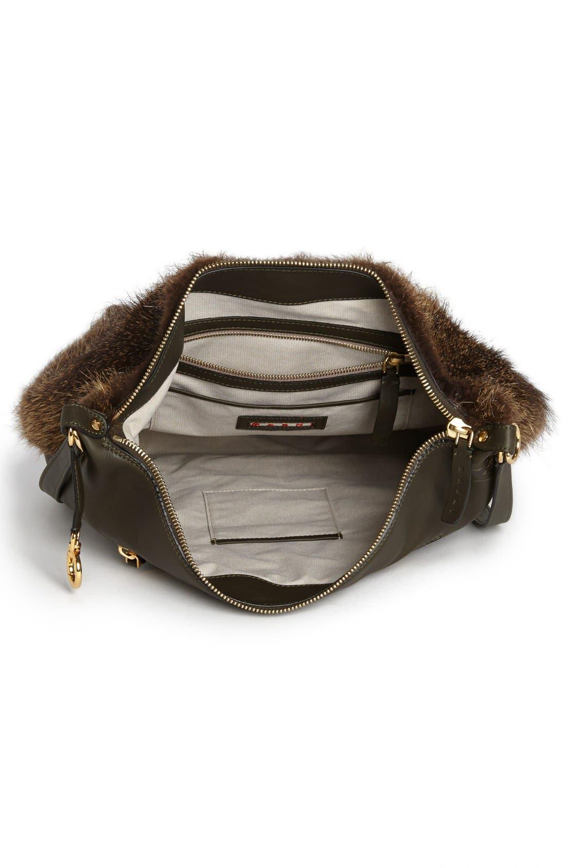 Alternate Image 3  - Marni Convertible Fur & Leather Backpack