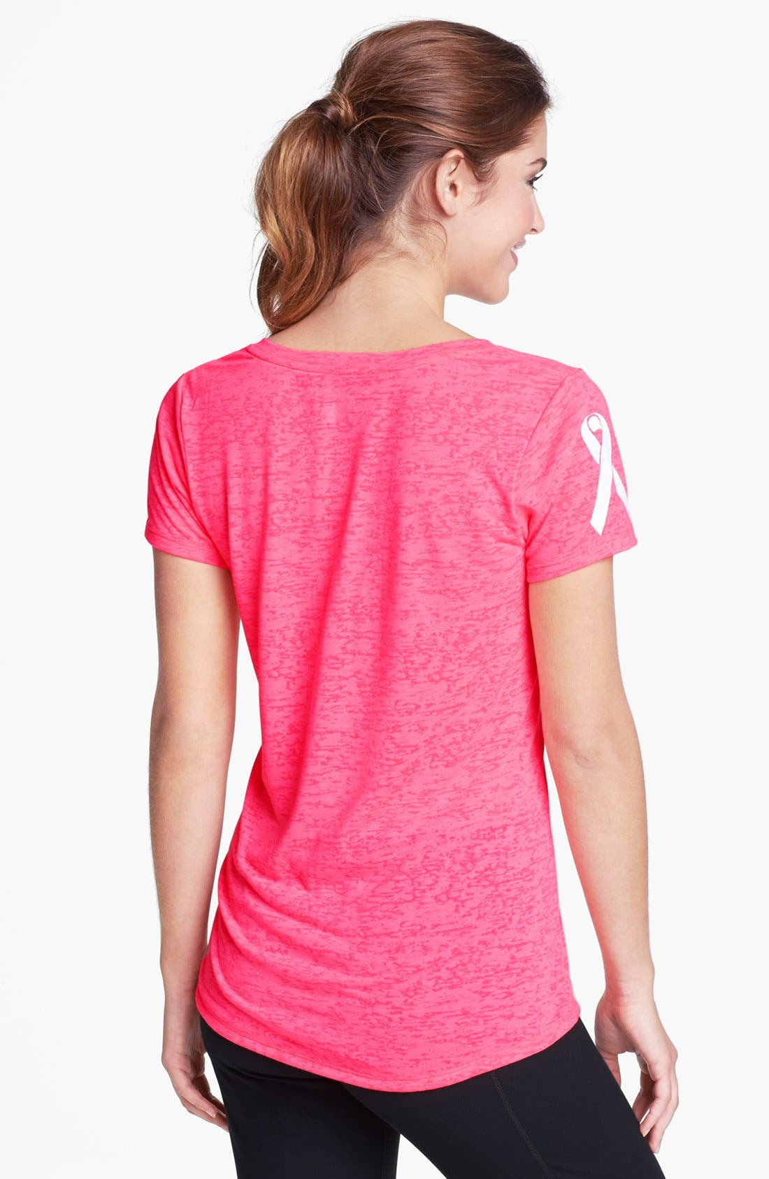 Alternate Image 2  - Under Armour 'Power in Pink Achieve' Tee