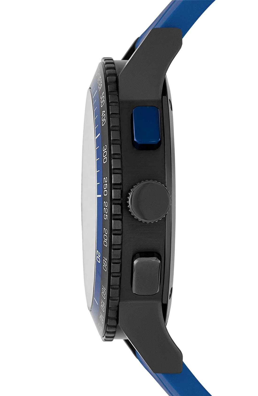 Alternate Image 3  - Burberry Chronograph Rubber Strap Watch, 42mm